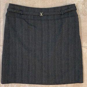 White House Black Market Belted Pencil Skirt